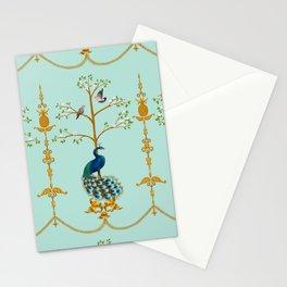 Rococo Peacocks Stationery Cards
