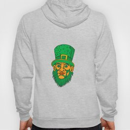 Irish Leprechaun Mono Line Color Hoody