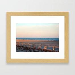 Sunlight On The Beach Framed Art Print