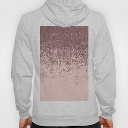 Speckled Rose Gold Glitter on Blush Pink Hoody