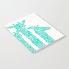 Giraffes – Turquoise Palette Notebook