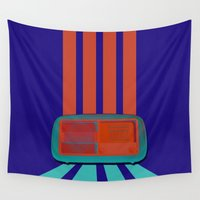 radio Wall Tapestries featuring radio GA GA by Alina Manea