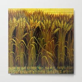 Classical Masterpiece 'Wheat' by Thomas Hart Benton Metal Print
