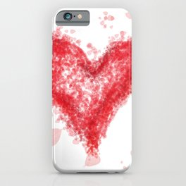 Valentine Flying Heart with Leaves iPhone Case