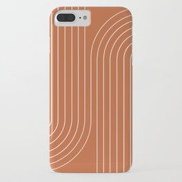 Minimal Line Curvature - Coral Red iPhone Case