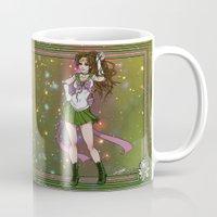 sailor jupiter Mugs featuring Sailor Jupiter by Teo Hoble