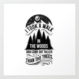 TALLER THAN THE TREES Art Print