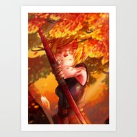 dragon age inquisition Art Prints featuring Dragon Age Inquisition - Sera by Niklisson
