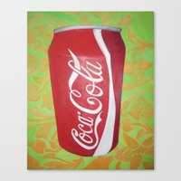 coke Canvas Prints featuring Coke by Talan Caine