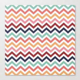 Chevron Zigzag Multicolor Canvas Print