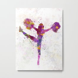 young woman cheerleader 04 Metal Print