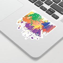 Colourful Paint splash Sticker