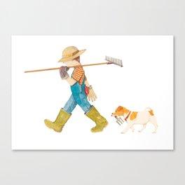 Junior Gardeners Canvas Print