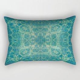 Abstract Blue Fractal Rectangular Pillow