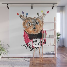 Holiday Dog, Tis the Season, Pinales Illustrated Wall Mural