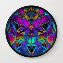Floral Fractal Art G308 Wall Clock