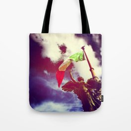 The angel and the flag Tote Bag