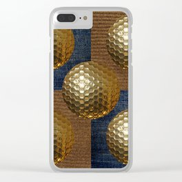 GOLD GOLF Clear iPhone Case