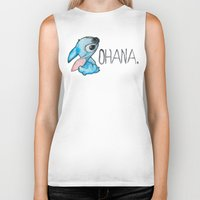 ohana Biker Tanks featuring Ohana by hcase