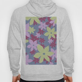 Blossoms Flowers vintage blue Hoody