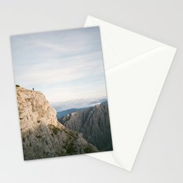 On top of the world | Dolomites Italy travel photography - mountain vibes landscape Stationery Cards