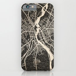 LEWISTON map Maine Ink lines iPhone Case