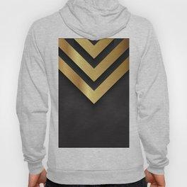 Back and gold geometric design Hoody