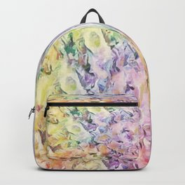 Vintage Soft Pastel Floral Abstract Backpack