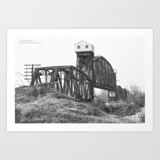 Railroad Bridge Over the Missouri River Art Print