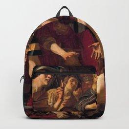 Dirck van Baburen - Mucius Scevolla devant Porsenna ou Achille prepare a venger la mort de Patrocle Backpack