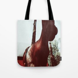 Horse at the Zoo Winter Wonderland Tote Bag