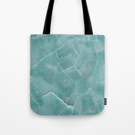 Ice Green Marble Tote Bag