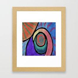 Sunny Abstract Digital Painting Framed Art Print
