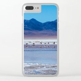 Flamingoes in the Atacama Desert, Bolivia Clear iPhone Case