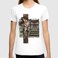 lara croft T-shirts featuring Lara Croft Japan by memo_alatouly