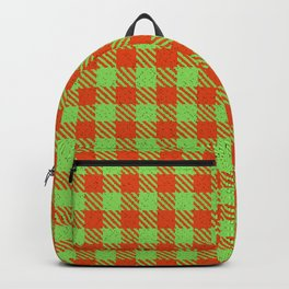 Accoville, Spring Green Petal Mantis on Rosa Norange Plaid Backpack