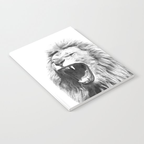 Black White Fierce Lion by alemi