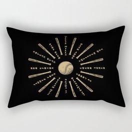 Historic baseball players mandala Rectangular Pillow