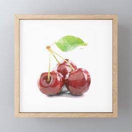 Cherries Framed Mini Art Print