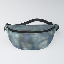 Abstract blue bluring pattern Fanny Pack