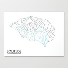 Solitude, UT - Minimalist Winter Trail Art Canvas Print