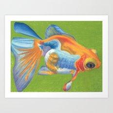 Telescope Eyed Goldfish Art Print