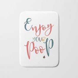 Bathroom typography - poop Bath Mat