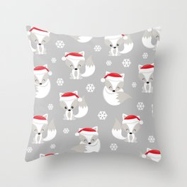 THE SPELL OF THE CHRISTMAS FOXES 2 Throw Pillow