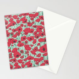 Poppies in August Stationery Cards
