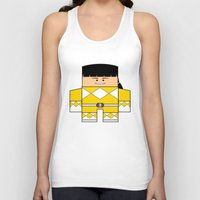 power rangers Tank Tops featuring Mighty Morphin Power Rangers - The Original Yellow Ranger Unmasked (Trini) by Choo Koon Designs