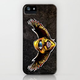Happy Cycloptic Dog Eagle with a Stache (scratch back) iPhone Case
