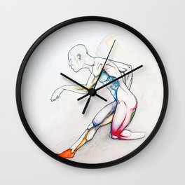 31 (Over), Male nude athletic figure, NYC artist Wall Clock