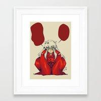 inuyasha Framed Art Prints featuring Inuyasha by KanaHyde