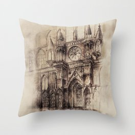 Gothic Cathedral 2 Throw Pillow